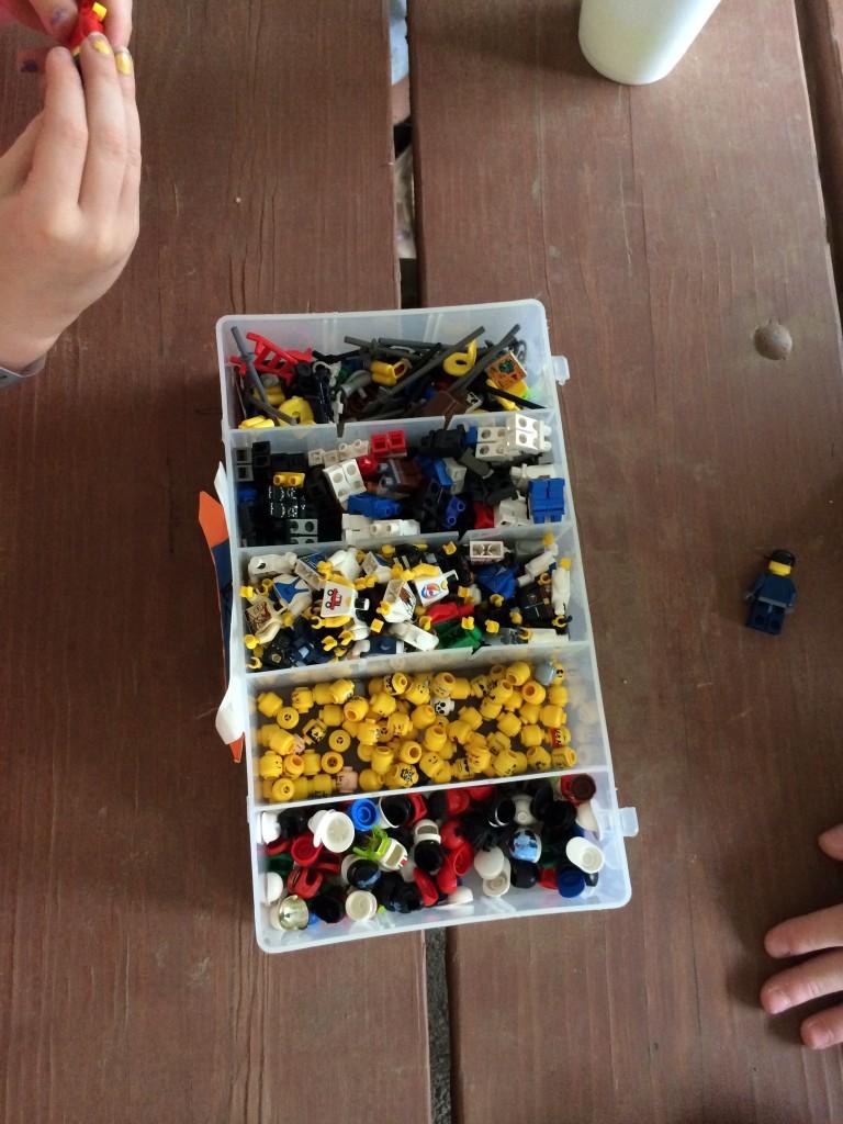 Market Days Building Lego peeps